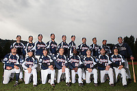 23 October 2010: Team Savigny poses prior to Savigny 8-7 win (in 12 innings) over Rouen, during game 3 of the French championship finals, in Rouen, France. First row, from left: Kyle Nash, Maxime Laurent, Romain Scott-Martinez, Fabien Proust, Boubakar Guaye, Thomas Salado, Vincent Ferreira, Eloi Secleppe. Second row, from left: Jerome Dussart, Chris Goniot, Tim Stewart, Sebastien Boyer, Pierrick Lemestre, Nicholas Waltersperger, Florian Peyrichou, Christopher Morel, Fabien Morel, Guillaume Coste
