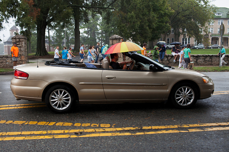 And the rain came down, N.C. PRIDE parade in Durham, NC, Saturday, September 24, 2011.