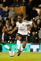 Neeskens Kebano of Fulham on the ball during the Sky Bet Championship match between Fulham and Hull City at Craven Cottage, London, England on 13 September 2017. Photo by Carlton Myrie.