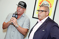 PHILADELPHIA, PA - JUNE 22 :  Damon Feldman and Jason Fine pictired at the Uber vs Lyft vs Cab driver press conference at Jason Fine law office in Philadelphia, Pa on June 22, 2016 photo credit Star Shooter / MediaPunch