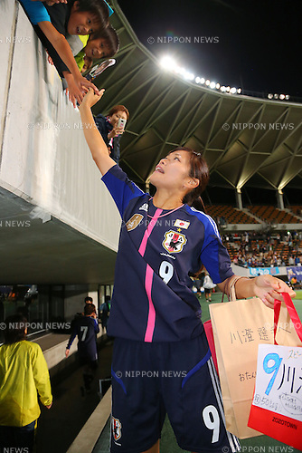 Nahomi Kawasumi (JPN), <br /> September 26, 2013 - Football / Soccer : <br /> International friendly match <br /> between Japan 2-0 Nigeria <br /> at Fukuda Denshi Arena, Chiba, Japan. <br /> (Photo by Daiju Kitamura/AFLO SPORT)