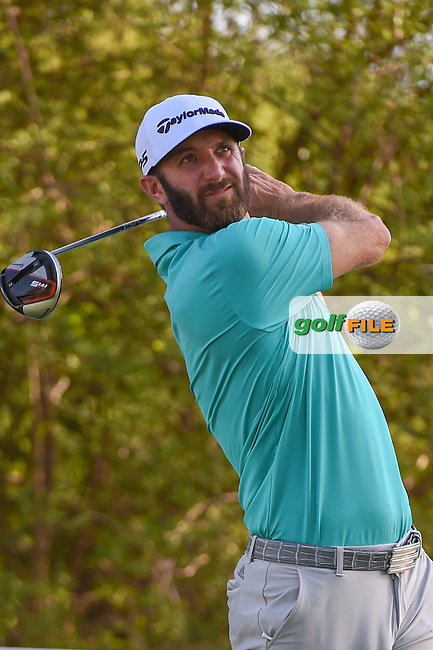 Dustin Johnson (USA) watches his tee shot on 12 during day 1 of the WGC Dell Match Play, at the Austin Country Club, Austin, Texas, USA. 3/27/2019.<br /> Picture: Golffile | Ken Murray<br /> <br /> <br /> All photo usage must carry mandatory copyright credit (© Golffile | Ken Murray)