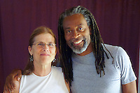 Sharon McDonnell a students at Circlesongs with Bobby McFerrin at Omega