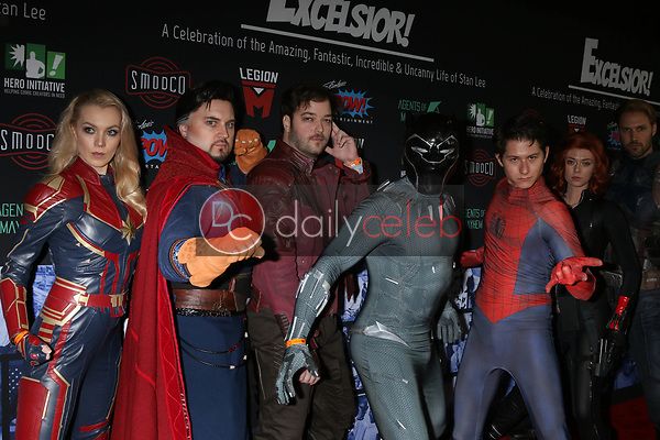 """Coplayers<br /> at """"Excelsior! A Celebration of the Amazing, Fantastic, Incredible & Uncanny Life of Stan Lee,"""" TCL Chinese Theater, Hollywood, CA 01-30-19<br /> David Edwards/DailyCeleb.com 818-249-4998"""