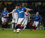 Lee McCulloch's stauner as he scores from the penalty spot