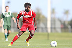January 11, 2013: Jason Johnson (GA, Virginia Commonwealth, Jamaica). Day 1 of the Combine. The 2013 adidas MLS Player Combine was held January 11-15, 2013 at Central Broward Regional Park in Lauderhill, Florida.