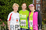 Margaret Cahill, Eileen Walsh and Joan Keane (all from Listowel), who took part in the Rose of Tralee 10k at Tralee Bay Wetlands on Sunday morning.