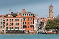 Italie, Vénétie, Venise:  Ponte Lungo et Rio del Ponte Lungo   // Italy, Veneto, Venice:  Ponte Lungo et Rio del Ponte Lungo