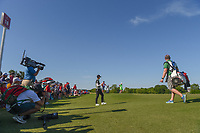 Sung Hyun Park (KOR) chips in from off the green for birdie on 18 during round 2 of  the Volunteers of America LPGA Texas Classic, at the Old American Golf Club in The Colony, Texas, USA. 5/6/2018.<br /> Picture: Golffile | Ken Murray<br /> <br /> <br /> All photo usage must carry mandatory copyright credit (&copy; Golffile | Ken Murray)