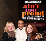 "Sherie Rene Scott and Sierra Bogess with James Harkness  starring in ""Ain't Too Proud: The Life And Times Of The Temptations"" after their first Broadway preview performance at The Imperial Theatre on February 28, 2019 in New York City."
