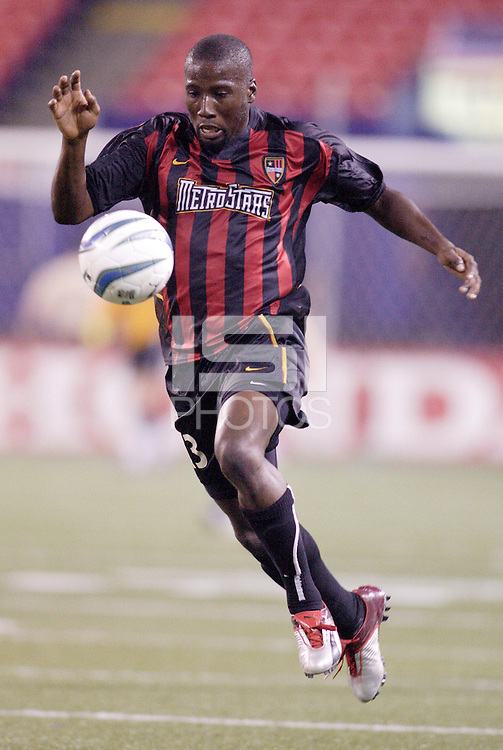 The MetroStars' Cornell Glen. The New England Revolution were defeated by the MetroStars 3 to 2 on Saturday September 11, 2004 at Giant's Stadium, East Rutherford, NJ..