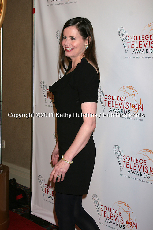 LOS ANGELES - APR 9:  Geena Davis arriving at the 32nd Annual College Television Awards at Renaissance Hotel Hollywood  on April 9, 2011 in Los Angeles, CA