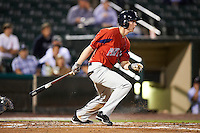 Pawtucket Red Sox outfielder Jeremy Hazelbaker #34 during game four of a best of five playoff series against the Empire State Yankees at Frontier Field on September 8, 2012 in Rochester, New York.  Pawtucket defeated Empire State 7-1 to advance to the International League Finals.  (Mike Janes/Four Seam Images)