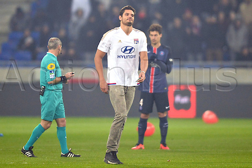 28.02.2016. Lyon, France. French League 1 football. Olympique Lyon versus Paris St Germain.  FLORENT MANAUDOU