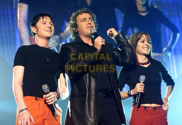 MARCO BORSATO & TWARRES.TMF Awards.Ahoy Stadium, Rotterdam.11th April 2001.www.capitalpictures.com.sales@capitalpictures.com.©Capital Pictures