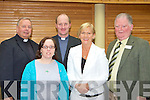 FR Gerard Finnucane St John's Tralee, Margaret Naughton Killorglin, Fr Padraig Walsh St Brendan's Tralee, Sheila Goulding Killarney and Jerome Conway Killorglin at the launch of the Diocese of Kerry Safeguarding Children, Standards and Guidance Document for the Catholic Church in the Malton Hotel Killarney on Sunday