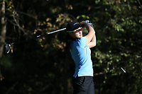 CHAPEL HILL, NC - OCTOBER 11: Nicole Lu of the University of North Carolina tees off at UNC Finley Golf Course on October 11, 2019 in Chapel Hill, North Carolina.