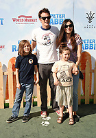 LOS ANGELES, CA - FEBRUARY 03: Actor Johnny Knoxville, Naomi Nelson and family arrive at the Premiere Of Columbia Pictures' 'Peter Rabbit' at The Grove on February 3, 2018 in Los Angeles, California.<br /> CAP/ROT/TM<br /> &copy;TM/ROT/Capital Pictures