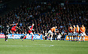 Michael Rankine of York City fires in a free-kick that leads to York's goal during the Blue Square Premier play-off semi-final 2nd leg  match between Luton Town and York City at Kenilworth Road, Luton on Monday 3rd May, 2010..© Kevin Coleman 2010 ..