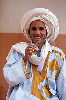 Near Ait Oudinar, Dades Gorge, Morocco.  Young Berber Man.