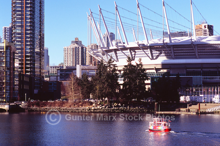 City of Vancouver Downtown and BC Place Stadium (New Retractable Roof completed in 2011), Vancouver, BC, British Columbia, Canada