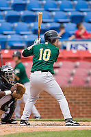 Alex Presley (10) of the Lynchburg Hillcats at bat versus the Winston-Salem Warthogs at Ernie Shore Field in Winston-Salem, NC, Wednesday May 14, 2008.