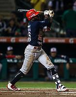 Randy Arozarena de los mayos, durante juego de beisbol de la Liga Mexicana del Pacifico temporada 2017 2018. Quinto juego de la serie de playoffs entre Mayos de Navojoa vs Naranjeros. 6Enero2018. (Foto: Luis Gutierrez /NortePhoto.com)
