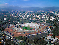 aerial photograph Olympic stadium University Nacional Autonoma Mexico (UNAM) Mexico City