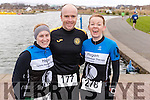 Leanne McCarthy, Damien Morrison and Sinead Stafford, all from Tralee, who took part in the Valentines 10 mile road race in Tralee, on Sunday morning last.