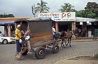 Horse-drawn taxi in Masaya, Nicaragua