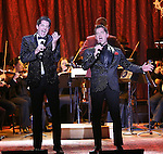 Will Nunziata and Anthony Nunziata performing in The American Pops Orchestra '75 Years of Streisand'  at the George Washington University Lisner Auditorium on January 13, 2017 in New York City.