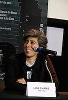 SÃO PAULO,SP,27 MARÇO 2012 - PRE ESTREIA FILME SANTOS 100 ANOS DE FUTEBOL ARTE.<br /> A diretora Lina Chamie durante a pre estreia do filme Santos 100 anros de futebol arte na manha de hoje no  no Cine Livraria Cultura - Conjunto Nacional.FOTO ALE VIANNA - BRAZIL PHOTO PRESS.
