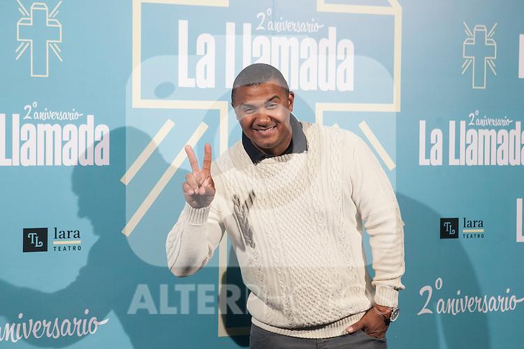 Henry Mendez attends La Llamada theater play in Madrid, Spain. April 15, 2015. (ALTERPHOTOS/Victor Blanco)