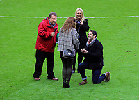 Sunday, 25 November 2012<br /> Pictured: Wedding Proposal.<br /> Re: Barclays Premier League, Swansea City FC v Liverpool at the Liberty Stadium, south Wales.
