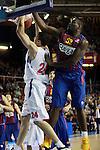 Nate Jawai vs Sasha Kaun. FC Barcelona Regal vs CSKA Moscow: 75-78