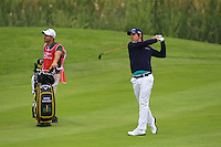 Matteo Manassero (ITA) on the 3rd fairway during Round 2 of the 100th Open de France, played at Le Golf National, Guyancourt, Paris, France. 01/07/2016. <br /> Picture: Thos Caffrey | Golffile<br /> <br /> All photos usage must carry mandatory copyright credit   (&copy; Golffile | Thos Caffrey)