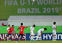 2nd November 2019; Kleber Andrade Stadium, Cariacica, Espirito Santo, Brazil; FIFA U-17 World Cup Brazil 2019, Chile versus Korea Republic; Alexandre Oroz of Chile celebrates his goal in the 41st minute, 1-2