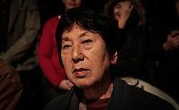 SAO PAULO, SP, 05 DE AGOSTO 2012 - II TOORO NAGAGASHI - Kotomi Torigoe sobrevivente da bomba nuclear de Hiroshima durante homenagem  dos 67 anos da bomba atômica de Hiroshima, o Parque do Ibirapuera celebra a segunda edição do Tooro Nagashi (Luzes da Paz) na noite deste domingo. FOTO: VANESSA CARVALHO / BRAZIL PHOTO PRESS.