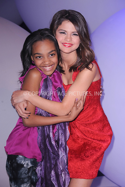WWW.ACEPIXS.COM . . . . . .March 16, 2011...New York City...China Anne McClain and Selena Gomez attends Disney Kids and Family Upfront on March 16, 2011 in New York City....Please byline: KRISTIN CALLAHAN - ACEPIXS.COM.. . . . . . ..Ace Pictures, Inc: ..tel: (212) 243 8787 or (646) 769 0430..e-mail: info@acepixs.com..web: http://www.acepixs.com .