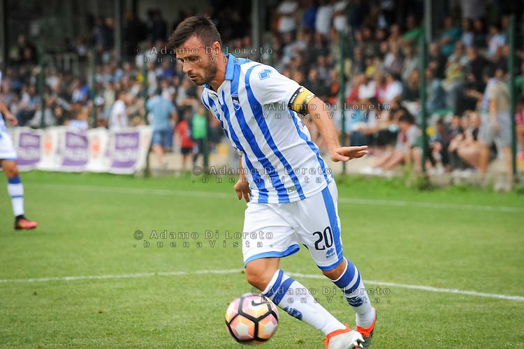 Ledian Memushaj (Pescara) during the withdrawal preseason Serie A; match friendly between Pescara vs San Nicolò, on July 28, 2016. Photo: Adamo Di Loreto/BuenaVista*photo