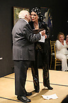 Mario Fratti and Liliane Montevecchi performing at 'Love n' Courage' - Theater for the New City Benefit at The National Arts Club on February 24, 2014 in New York City.