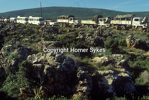 Irish UN, United Nations troops pull out of southern Lebanon 1980s. They were part of United Nations Interim Force in Lebanon