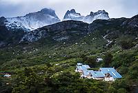 Los Cuernos Refuge, Torres del Paine National Park, Chile