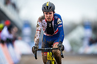 Picture by Alex Whitehead/SWpix.com - 04/02/2018 - Cycling - 2018 UCI Cyclo-Cross World Championships - Valkenburg, The Netherlands - Great Britain's Tom Pidcock looks dejected following the race.