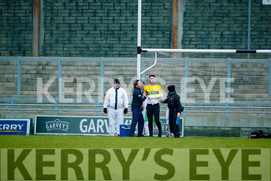 Martin Stackpoole Kerry  injured against  Cork in the Co-op Superstores Munster Senior Hurling League on Sunday 14th January in Austin Stack Park, Tralee.