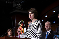 Representative Cathy McMorris Rodgers, Republican of Washington, speaks with reporters during a post Republican Caucus meeting press conference on Capitol Hill in Washington, DC on June 13, 2018. Credit: Alex Edelman / CNP /MediaPunch