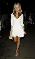Kimberley Garner.attended the Kensington Club new boutique nightclub launch party, The Kensington Club, High Street Kensington, London, England,.20th July 2012..full length white dress beige nude bag shoes .CAP/CAN.©Can Nguyen/Capital Pictures.