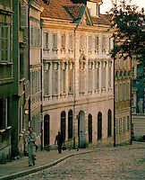 Street scene in the old city, Warsaw, Poland