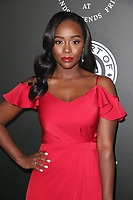 SANTA MONICA, CA - JANUARY 6: Aja Naomi King at Art of Elysium's 11th Annual HEAVEN Celebration at Barker Hangar in Santa Monica, California on January 6, 2018. <br /> CAP/MPI/FS<br /> &copy;FS/MPI/Capital Pictures