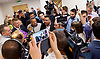 UKIP manifesto launch, Westminster, London, Great Britain <br /> 25th May 2017 <br /> <br /> Activists being interviewed by media - conversations got quite heated! <br /> <br /> Photograph by Elliott Franks <br /> Image licensed to Elliott Franks Photography Services